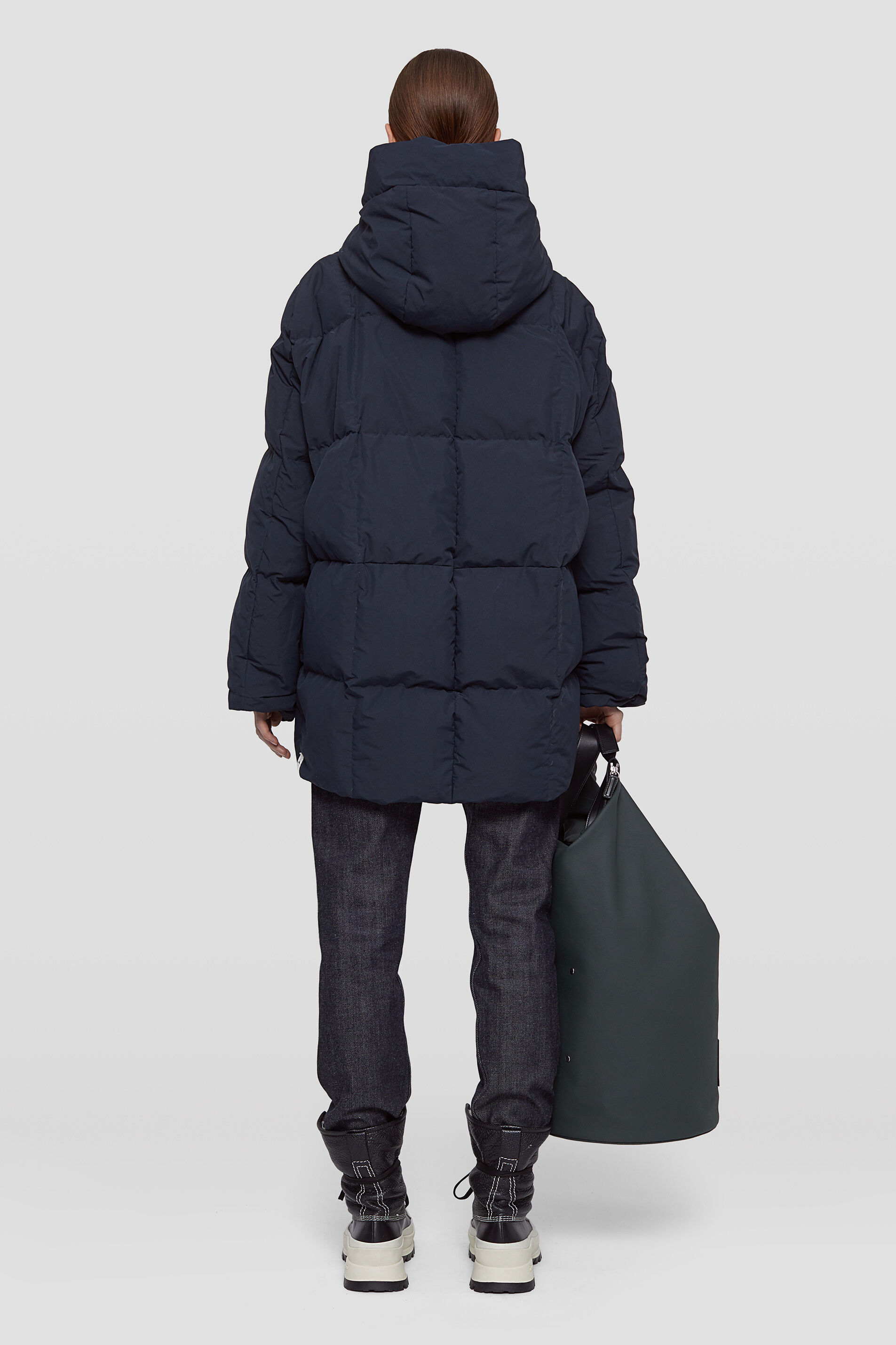 Quilted Down Jacket, dark blue, large