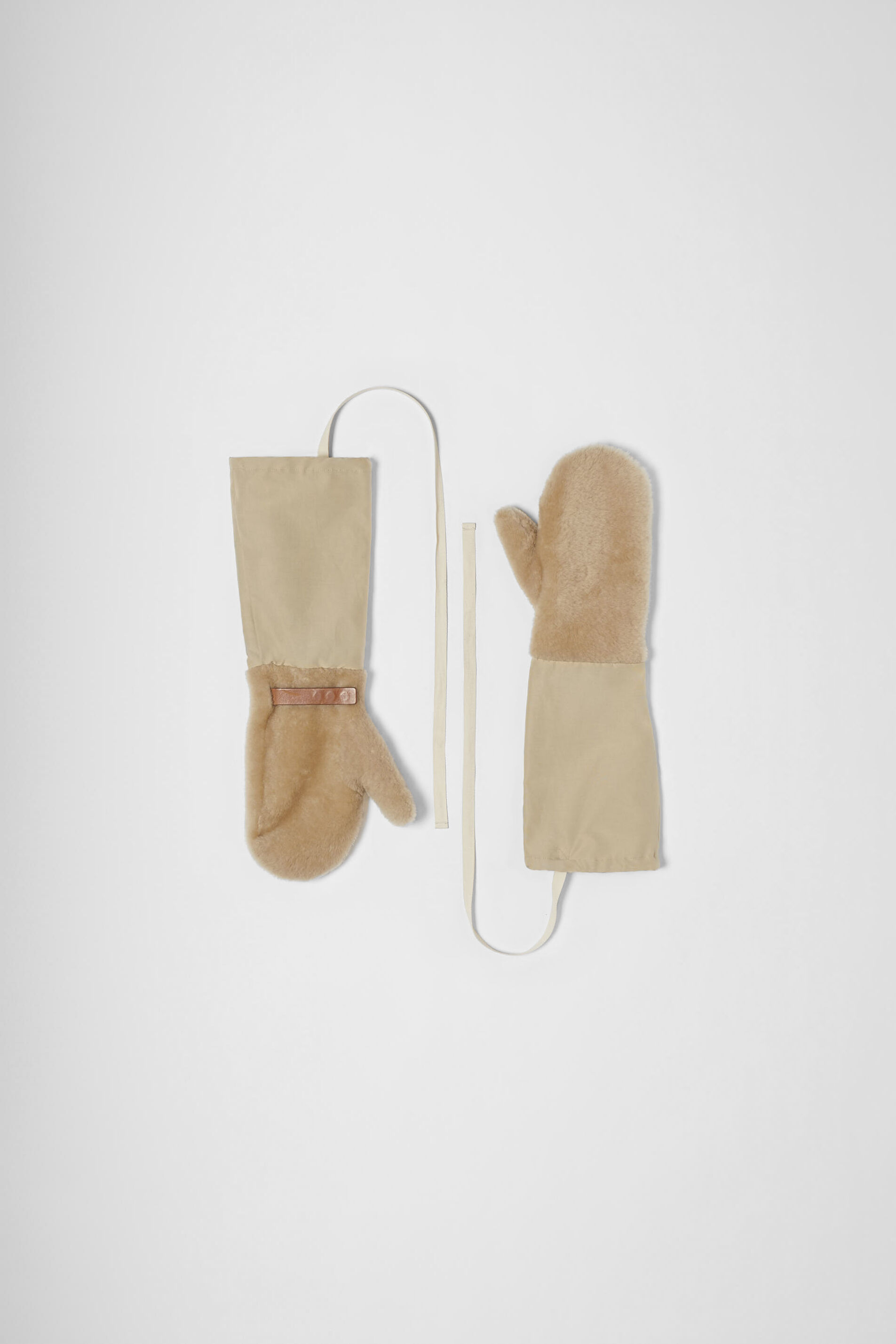 Gloves, beige, large