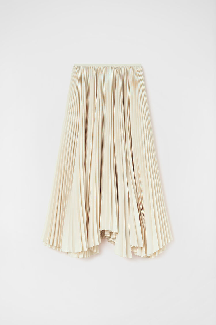 Pleated Skirt, natural, large