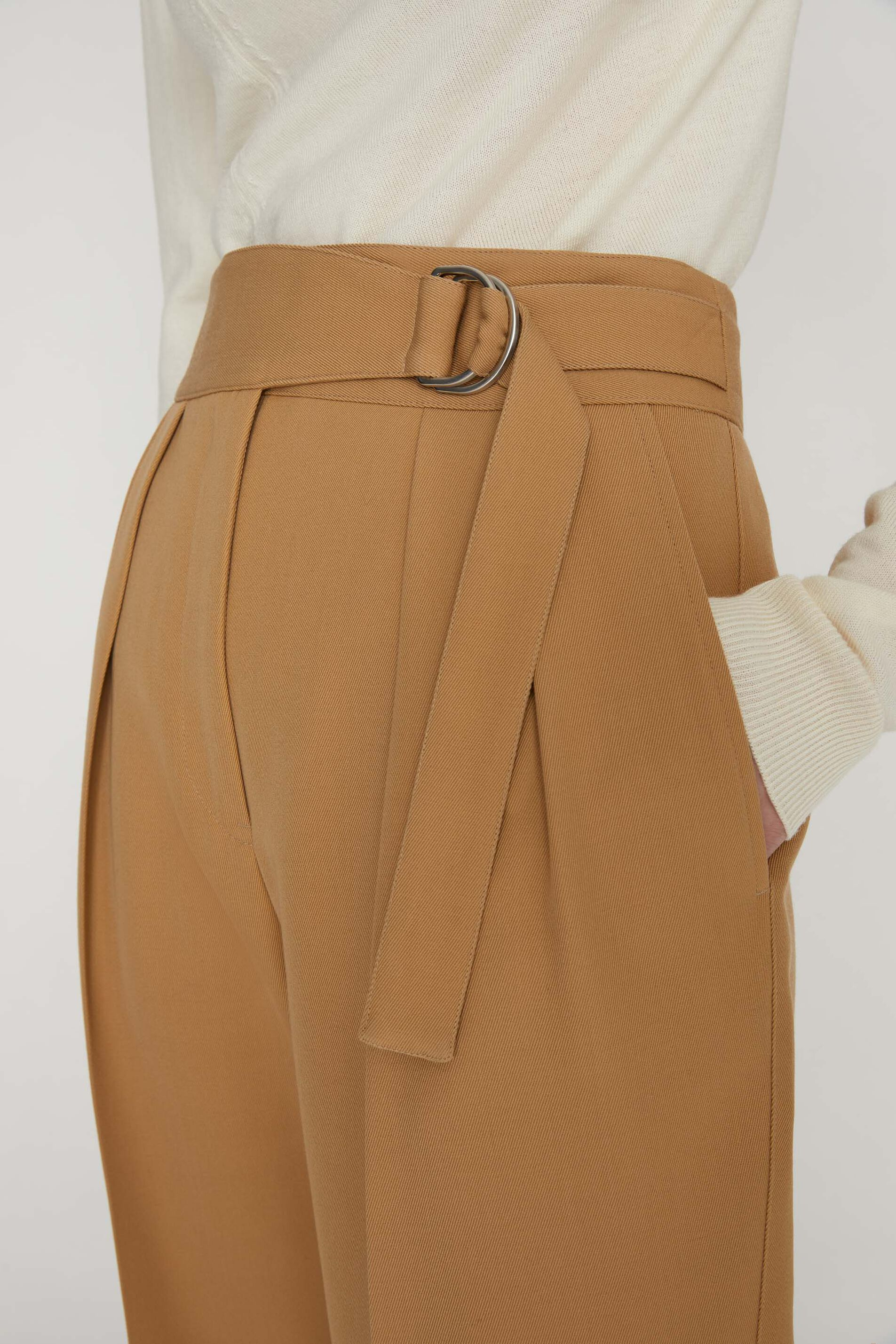 Trousers, dark beige, large